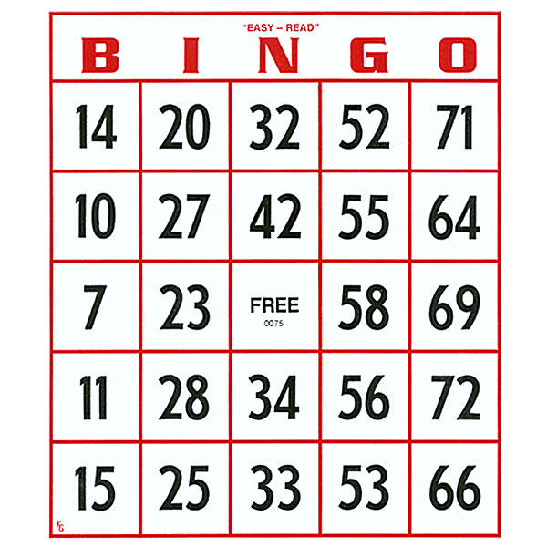 The standard Bingo card is a 5 by 5 table containing integers between ...