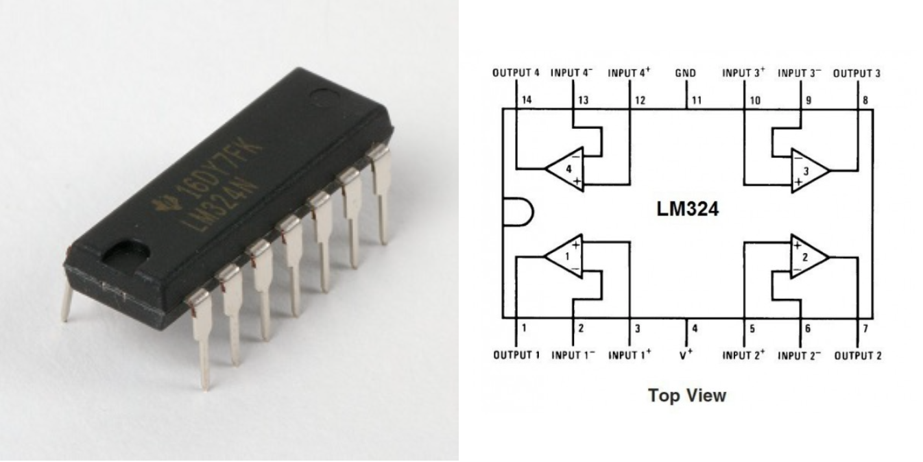 Lab 3 Power Op Amp Circuit The Chip Contains 4 Separate Amps Note Notch In Packageits Important To Connect With Correct Polarity