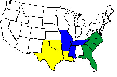 blues styles on the map