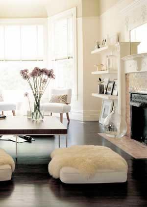 Art modern vintage living for Modern vintage living room