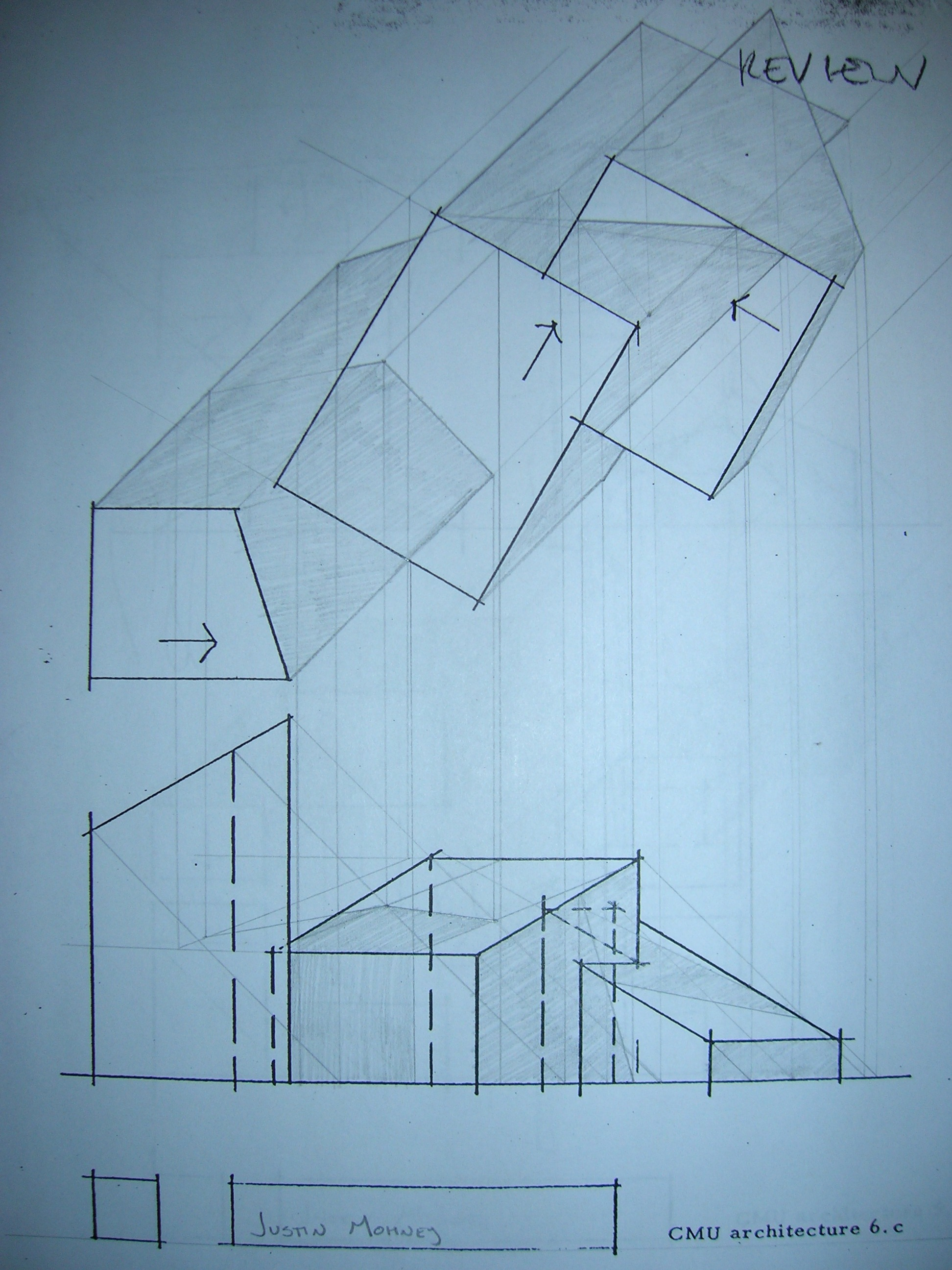 Plan Elevation Perspective : Justin j mohney architectural drawing ii