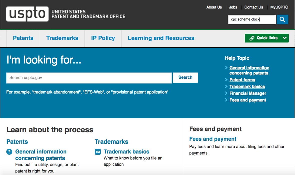 Screen Shot of CPC Scheme Search