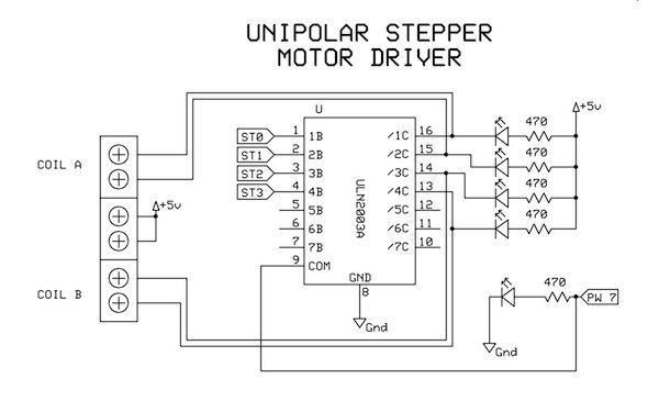 9 Unipolar Stepper Motor Driver