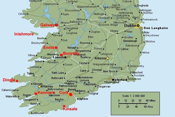 map of ireland shannon airport Ireland Trip September 2007 map of ireland shannon airport